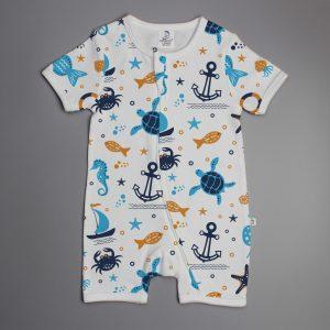 Marine Life short sleeve zipsuit-imababywear