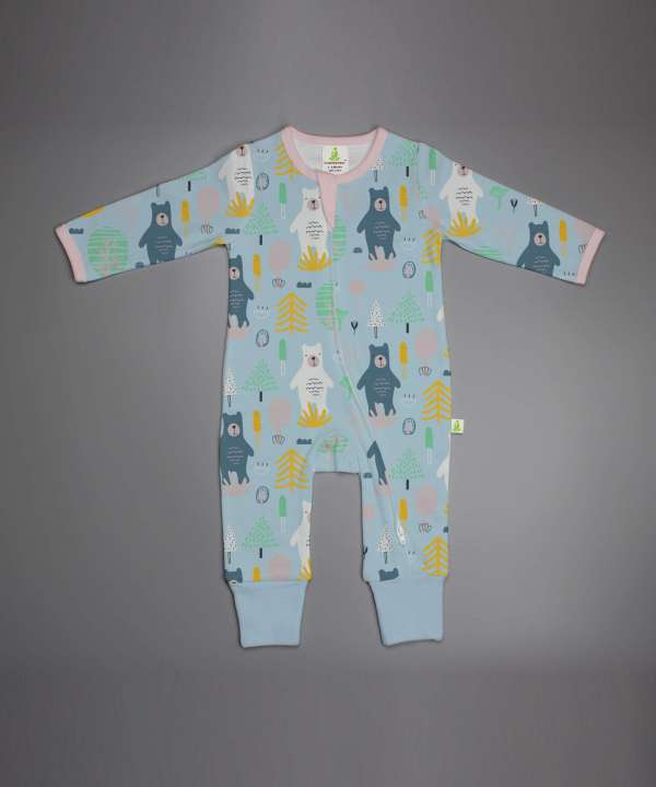 Arctic Bears Long Sleeve Zipsuit-imababywear