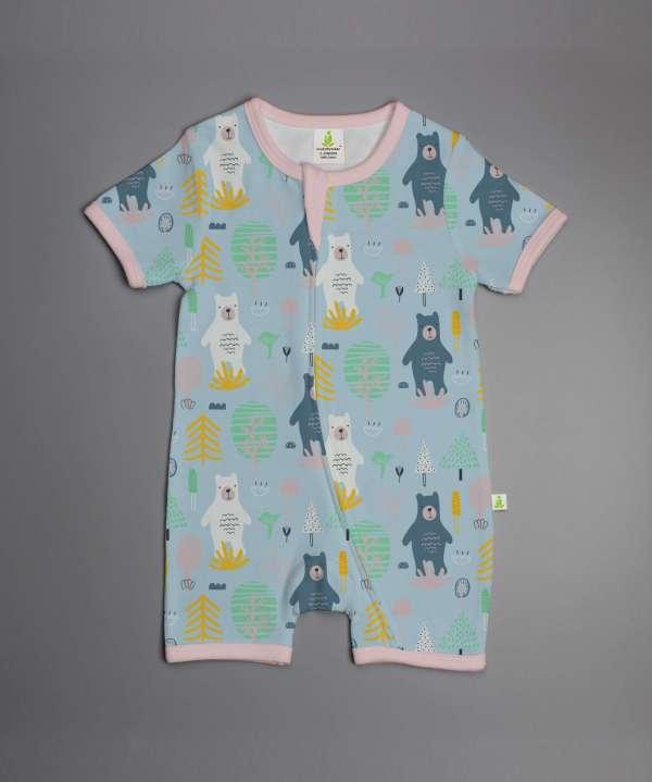Arctic Bear shorts leeve zipsuit-imababywear