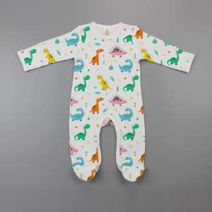 Dino Land Button Growsuit-imababywear