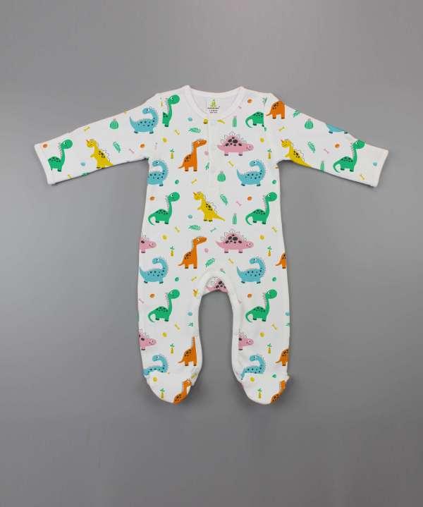 Dino Land Button Growsuit-imababywear