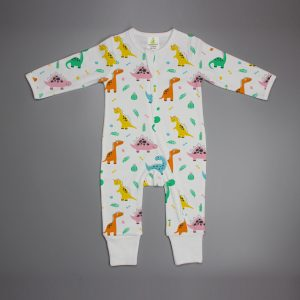 Dino Land Long Sleeve Zipsuit-imababywear