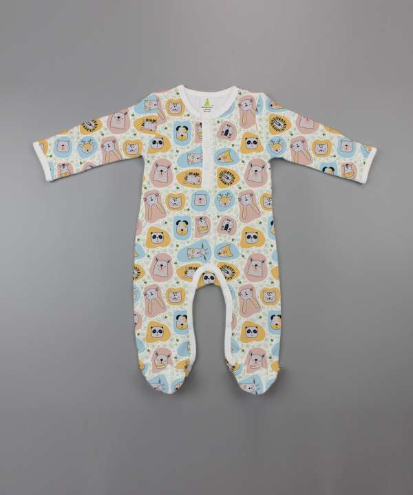 Jungle book Button Growsuit-imababywear