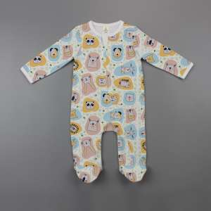 Jungle book Long Sleeve Zipsuit with Feet-imababywear