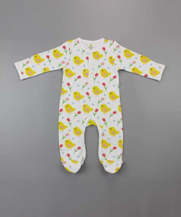 Little Birdies Button Growsuit-imababywear
