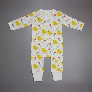 Little Birdies Long sleeve Zipsuit-imababywear