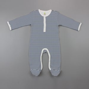 Sapphire Stripes Button Growsuit-imababywear