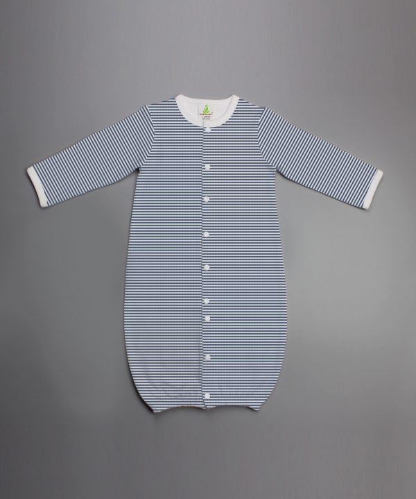 Sapphire Stripes Convertible Sleepsuit-imababywear