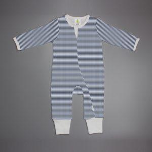 Sapphire Stripes Long sleeve Zipsuit-imababywear