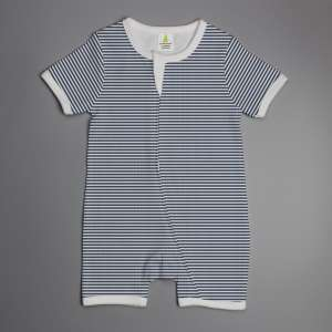 Sapphire Stripes short sleeve zipsuit-imababywear