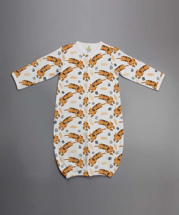 Tiger cubs Convertible Sleepsuit-imababywear