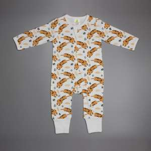 Tiger Cubs Long Sleeve Zipsuit-imababywear