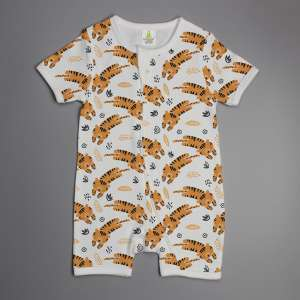 Tiger cubs short sleeve zipsuit-imababywear