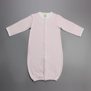 pink stripes Convertible Sleepsuit-imababywear