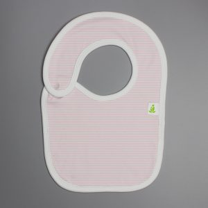 pink stripes Reversible Bib-imababywear
