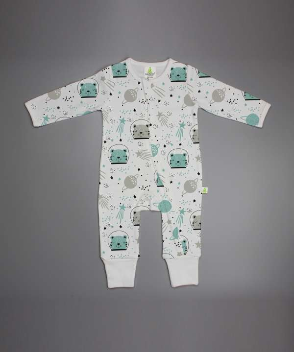 Astronaut Cat Long Sleeve Zipsuit-imababywear