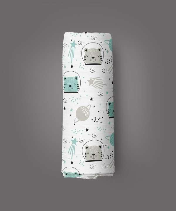 Astronaut Cat Muslin Wrap-imababywear