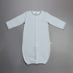 Cool Blue Stripes Convertible Sleepsuit-imababywear