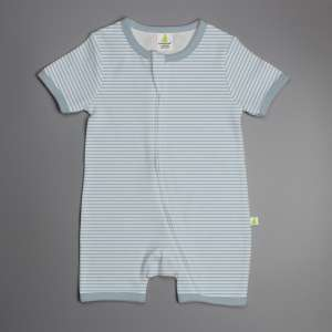 Blue Stripes Shortsleeve Zipsuit-imababywear
