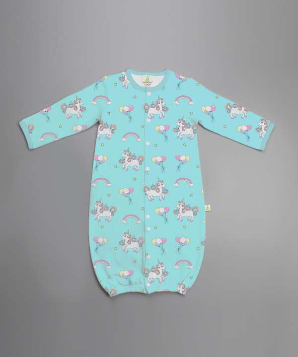 Unicorn Fantasy Convertible Sleepsuit-imababywear