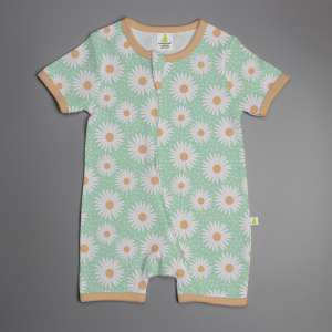 Daisy Valley Shortsleeve Zipsuit-imababywear