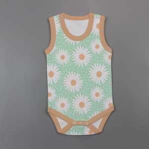 Daisy Valley Sleeveless Bodysuit-imababywear