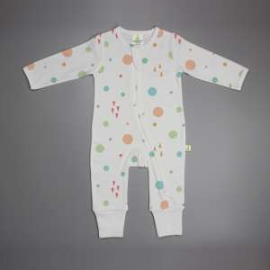Dots and Doodles Long Sleeve Zipsuit-imababywear