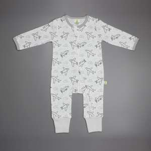 Happy Flight Long Sleeve Zipsuit -imababywear