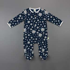 Little Jasmine Long Sleeve Zipsuit with Feet-imababywear