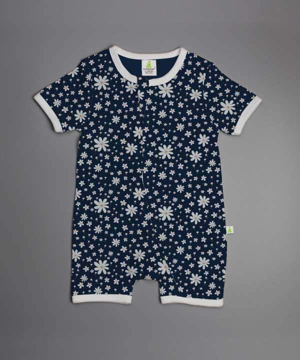 Little Jasmine Shortsleeve Zipsuit-imababywear
