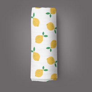 Little Lemons Muslin Wrap-imababywear