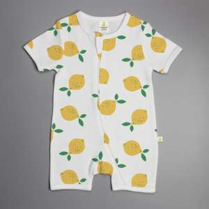 Little Lemons Short Sleeve Zipsuit-imababywear
