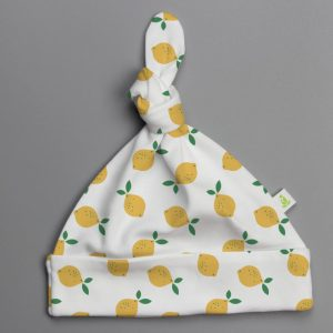 Little Lemons Knotted Beanie-imababywear