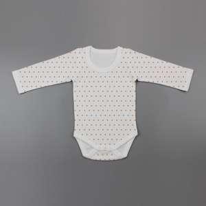 Polka Dots Full Sleeve Bodysuit-imababywear