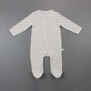 Polka Dots Long Sleeve Zipsuit with Feet-imababywear