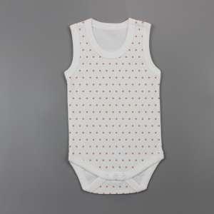 Polka Dots Sleeveless Bodysuit-imababywear