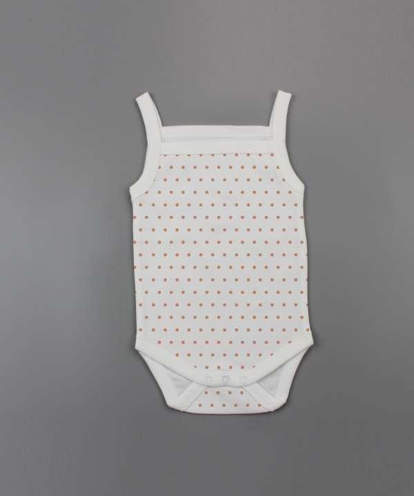 Polka Dots Strapy Bodysuit-imababywear