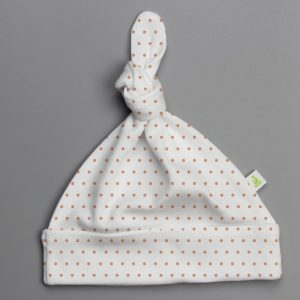 Polka Dots Knotted Beanie-imababywear