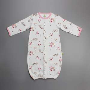 Red Bloom Convertible Sleepsuit-imababywear
