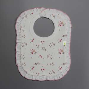 Red Bloom Frill Bib-imababywear