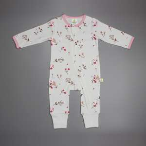 Red Bloom Long Sleeve Zipsuit-imababywear