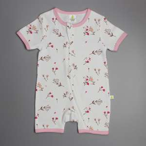 Red Bloom Shortsleeve Zipsuit-imababywear