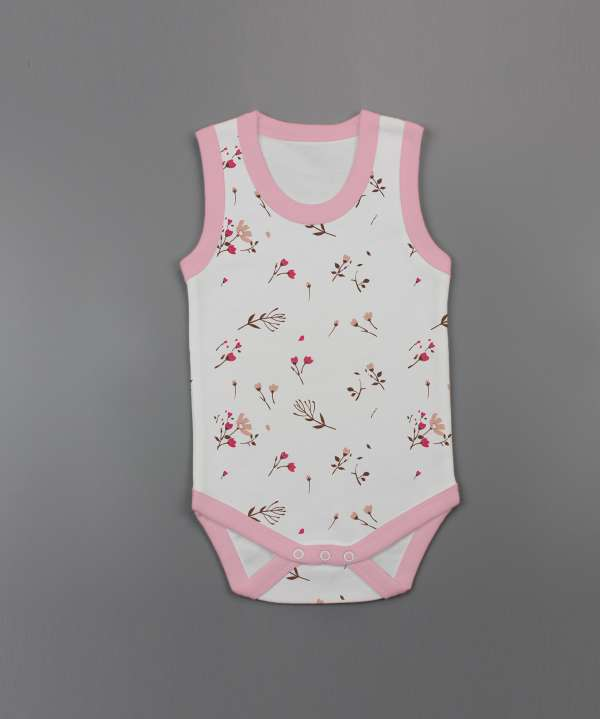 Red Bloom Sleeveless Bodysuit-imababywear