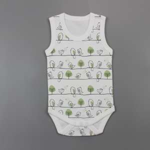 Tiny Tweets Sleeveless Bodysuit-imababywear
