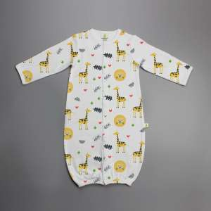 Yellow Forest Convertible Sleepsuit-imababywear