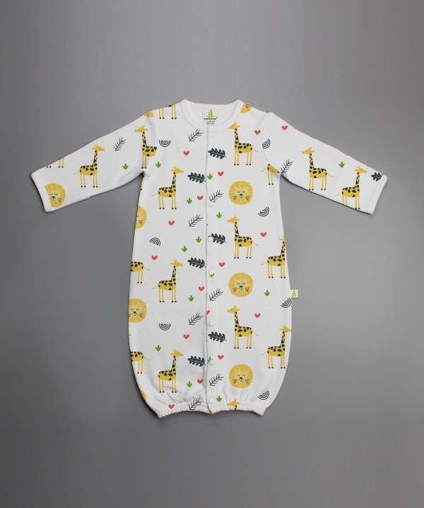 Yellow Forest Convertible Sleepsuit-imababywear