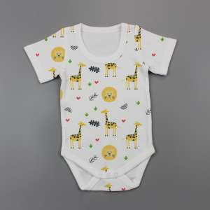 Yellow Forest Half Sleeve Bodysuit -imababywear