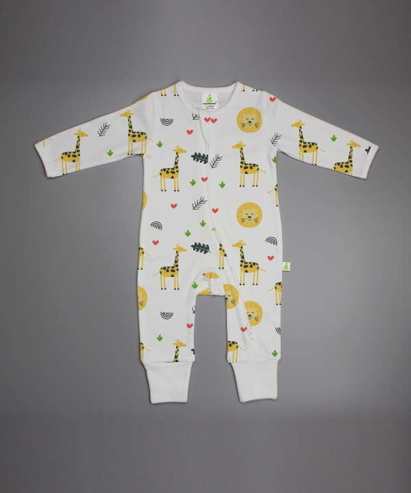 Yellow Forest Long Sleeve Zipsuit-imababywear