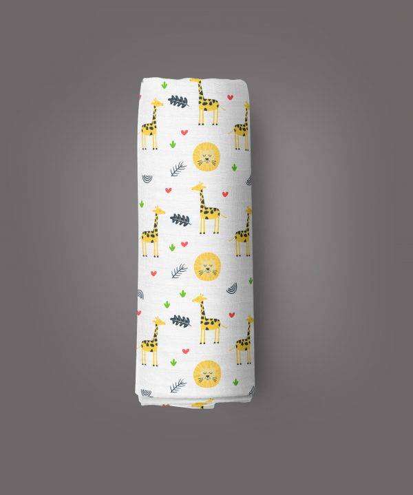 Yellow Forest Muslin Wrap-imababywear