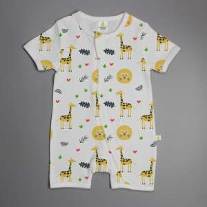 Yellow Forest Shortsleeve Zipsuit-imababywear